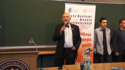 Janusz Korwin-Mikke na Uniwersytecie Ekonomicznym w Krakowie 03.04.2014