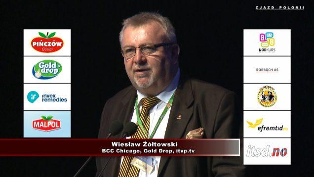 Wiesław Żółtowski na XX-ej  Światowej Konferencji Gospodarczej Polonii w Toruniu  – 2018
