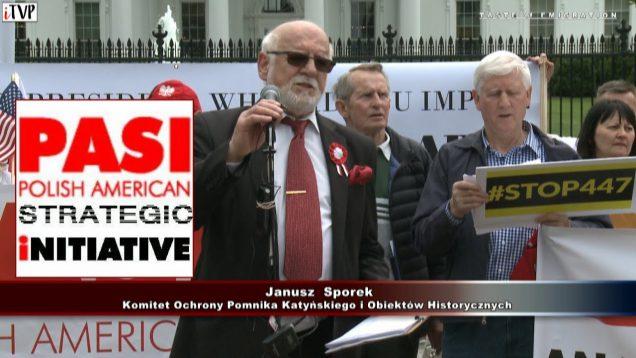Janusz Sporek – Washington Speech