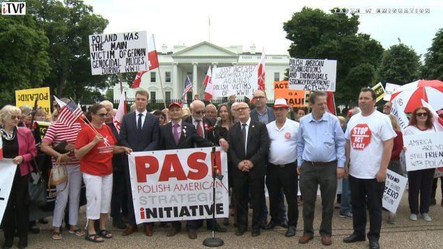 Protest Polonii przeciwko S 447 w Waszyngtonie