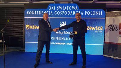 Włodzimierz Szczepaniak i Hubert Gorczyca na XXI Światowej Konferencji Gospodarczej Polonii
