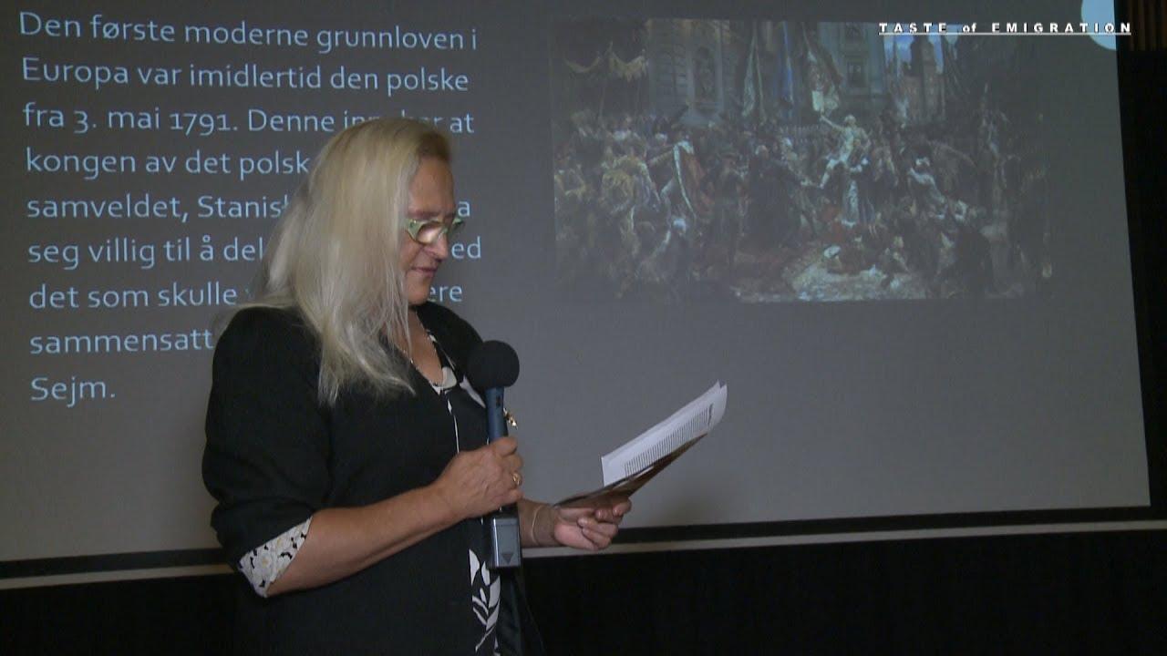 Edyta Stylo otwiera wystawę w Eidsvoll